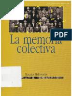 Maurice Halbwachs La Memoria Colectiva