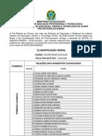 Profuncionário - Classificação Geral