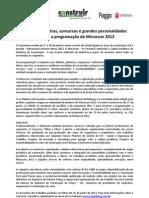 Construir Minas Programacao Minascon 2012