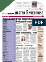 Manchester Enterprise front page August 9