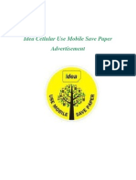 Idea Cellular Use Mobile Save Paper Advertisement