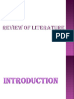 Imp of Review of Literature