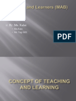 Concept of Teaching and Learning