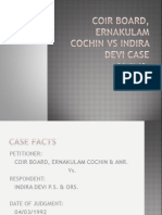 Coir Board, Ernakulam Cochin vs Indira Devi