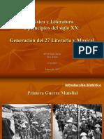 Música y literatura de principios del siglo XX