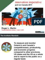 Roger L Martin Canadas Innovation Imperative