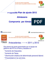 Pla Ajust 2012 Sostenible