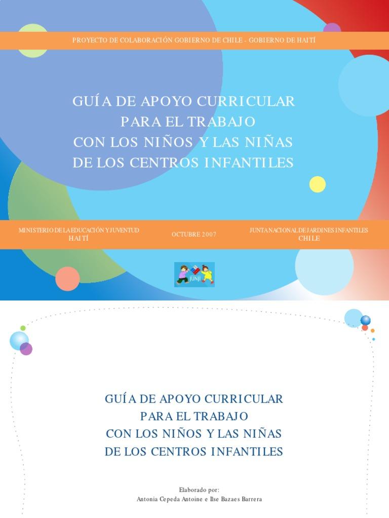 Guia de Apoyo Curricular Para El Trabajo Con Ninos y Ninas de Los ...