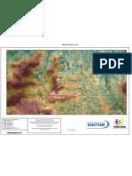 Mapa de Altimetria (Centro) - Teófilo Otoni / MG