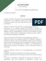 Ley 1229 de 2008