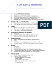 Checklist for Sleep Lab Contruction
