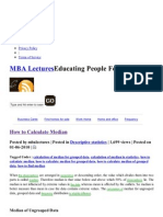 MBA Lectures » Blog Archive » How to Calculate Median