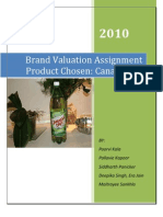 Brand Valuation Project Submission - Group No.7 - Canada Dry[1][1]