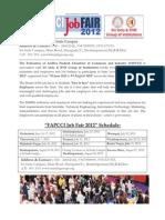 Job Fair Schedule 2012