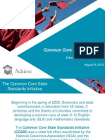 Common Core State Standards Presentation PowerPoint