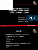 Tax Engine Comparison - Ebtax, Vertex, Sabrix, Taxware