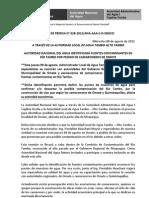 BOLETÍN DE PRENSA 028-2012