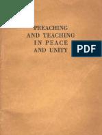 1960 Preaching Teaching Peace Unity