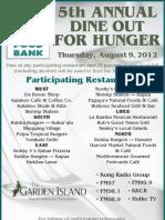 2012 Dine Out for Hunger Flyer