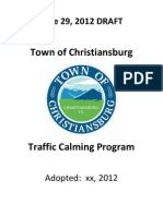 Town of Christiansburg Traffic Calming Program