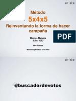 Metodo 5x4x5 Reinventando la forma de hacer campañas Por Marcos Magaña