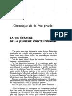 Esprit 3 - 193212 - La vie étrange de la jeunesse contemporaine