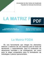 La Matriz Foda 2012.Ppt