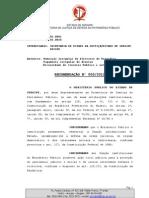 RECOMENDAÇÃO 003/2012 (MPE/SE à SEJUC/SE)
