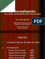 Normalizacion de bases de datos