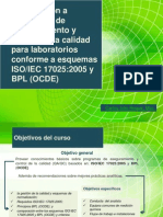 Introducción a  ISO IEC 17025 y referencia a BPL (OCDE)
