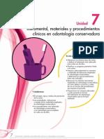 Instrumental Materiales y Procedimientos Clinicos en Odontologia Conservadora