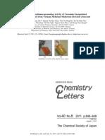 Chemistry Letter