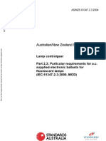 As NZS 61347.2.3-2004 Lamp Controlgear - Particular Requirements for a.c. Supplied Electronic Ballasts for Fl