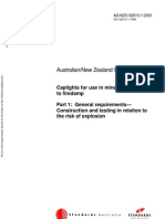 As NZS 62013.1-2001 Caplights for Use in Mines Susceptible to Firedamp General Requirements - Construction An