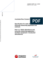 As NZS CISPR 16.1.2-2004 (2nd Edition) Specification for Radio Disturbance and Immunity Measuring Apparatus A