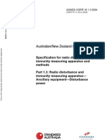 As NZS CISPR 16.1.3-2004 (2nd Edition) Specification for Radio Disturbance and Immunity Measuring Apparatus A