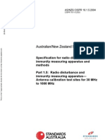 As NZS CISPR 16.1.5-2004 Specification for Radio Disturbance and Immunity Measuring Apparatus and Methods Rad