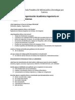 Guía Temática de Información a Investigar por Carrera Ingenieria