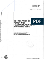 HB 103-1997 (CJC 7) Coordination of Power and Telecommunications - Crossings Code- The Arrangement of Overhea