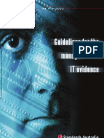 HB 171-2003 Guidelines for the Management of IT Evidence