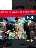 HB 240-2004 Guidelines for Managing Risk in Outsourcing Utilizing the as NZS4360-2004 Process