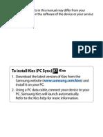 Galaxy Tab Manual