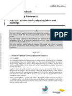 HB 295.3.5-2008 Product Safety Framework Product Safety Warning Labels and Markings