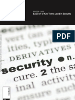 HB 324-2008 Lexicon of Key Terms Used in Security