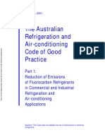 HB 40.1-2001 the Australian Refrigeration and Air-Conditioning Code of Good Practice Reduction of Emissions o