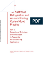 HB 40.2-2001 the Australian Refrigeration and Air-Conditioning Code of Good Practice Reduction of Emissions o
