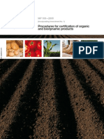 MP 100-2009 Procedures for Certification of Organic and Biodynamic Products
