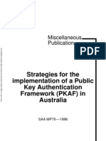 MP 75-1996 Strategies for the Implementation of a Public Key Authentication Framework (PKAF) in Australia