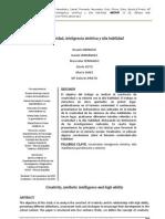 Creatividad, Inteligencia Sintetica y Alta Habilidad