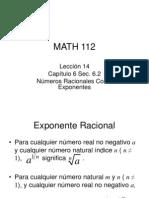 Nmeros Racionales Como Exponentes
